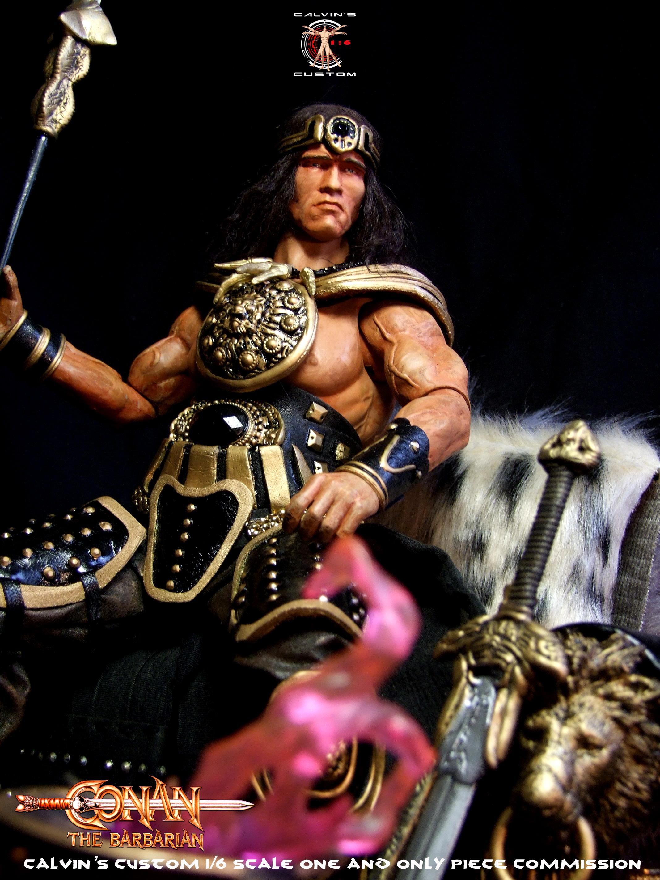 Calvin's Custom 1/6 one sixth scale Arnold Schwarzenegger as King Conan, based on Conan the Barbaria