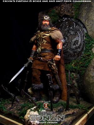 Calvin's Custom 1/6 one sixth scale Arnold Schwarzenegger as King Conan, based on a concept for the