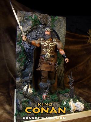 Calvin's Custom 1/6 one sixth scale Arnold Schwarzenegger as King Conan, based on a concept for the