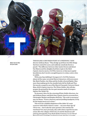 Captain America Civil war - Empire Magazine - UK - April 2016