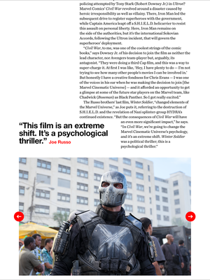 Captain America Civil war - Empire Magazine - UK - April 2016