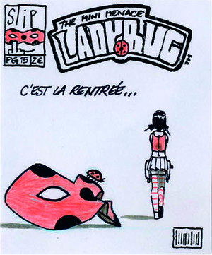 Comic-style Miraculous Ladybug concept art