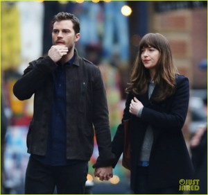 Dakota Johnson and Jamie Dornan Hold Hands on 'Fifty Shades Darker' Set!