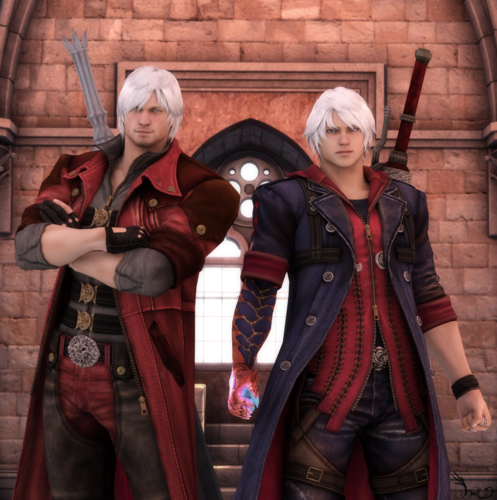 Devil may cry 4 dante and nero hd and background devil may cry 4 titled dante and nero voltagebd Images