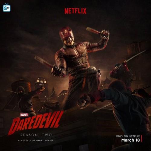 Daredevil (Netflix) 壁紙 containing アニメ entitled Daredevil - Season 2 - New Poster