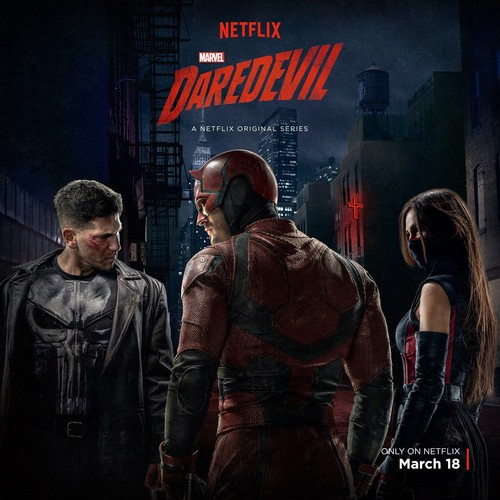 Daredevil (Netflix) 壁紙 probably containing a sign and アニメ called Daredevil Season 2 Poster