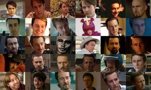 Edward Norton movie collage