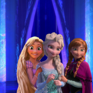 Elsa, Anna and Rapunzel