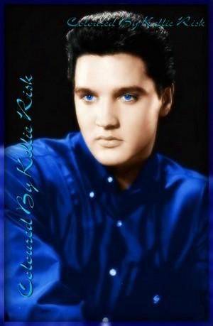 Elvis colored picture