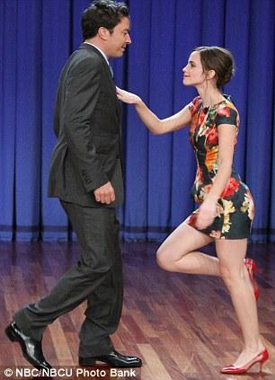 Emma dancing with Jimmy Fallon 1