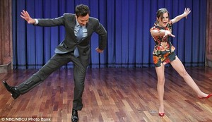 Emma dancing with Jimmy Fallon 2