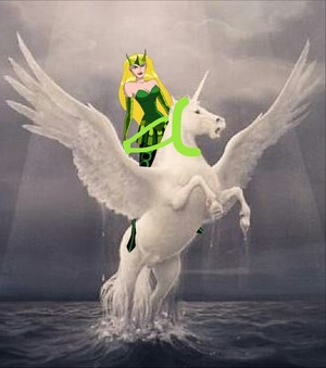 Enchantress had captured an Beautiful Winged Unicorn Stallion