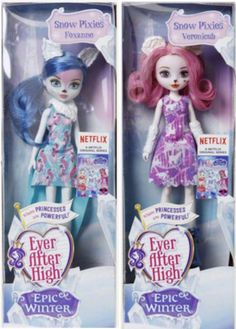 Ever After High Epic Winter Snow Pixies mga manika