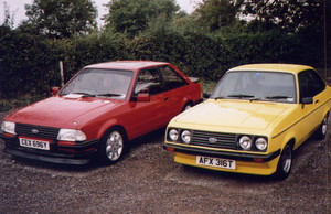 Ford Escort MkIII RS1600i and Escort MkII RS2000