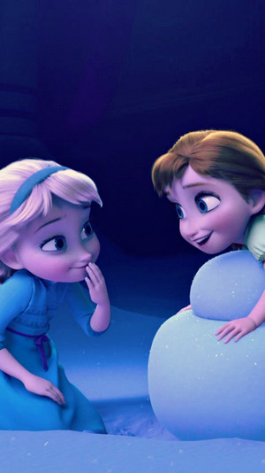 Frozen Elsa and Anna phone Hintergrund