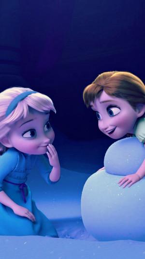 Frozen Elsa and Anna phone karatasi la kupamba ukuta