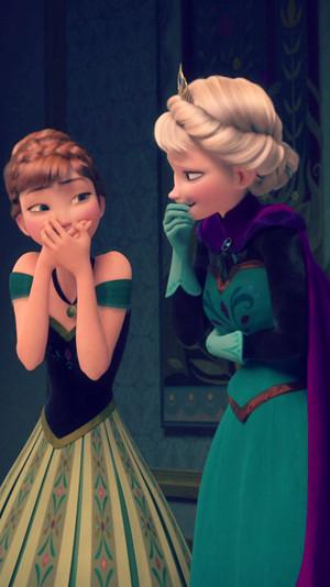 Frozen Elsa and Anna phone achtergrond