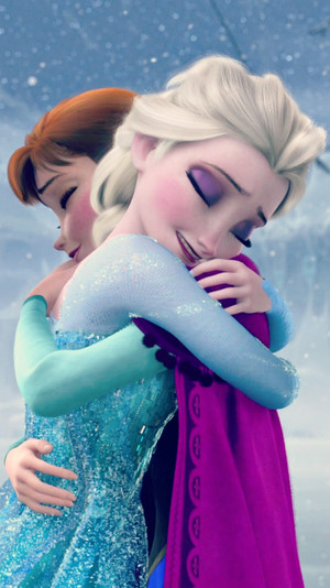 फ्रोज़न Elsa and Anna phone वॉलपेपर