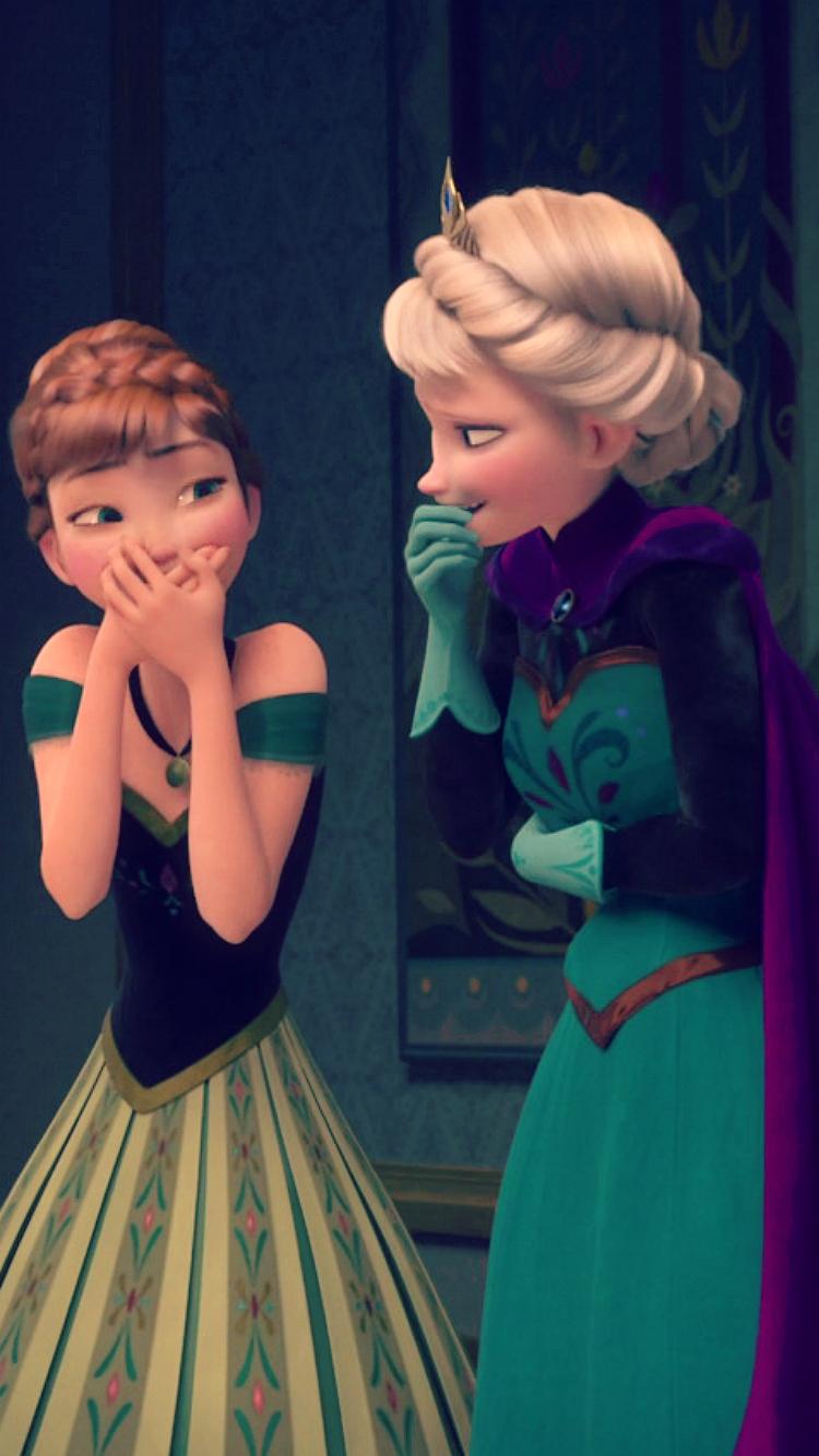 Frozen Elsa and Anna phone wallpaper