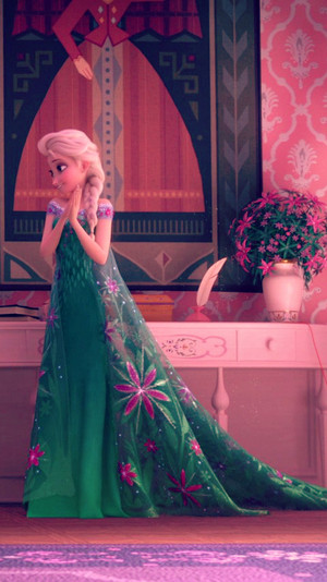 Frozen Fever Elsa Phone پیپر وال