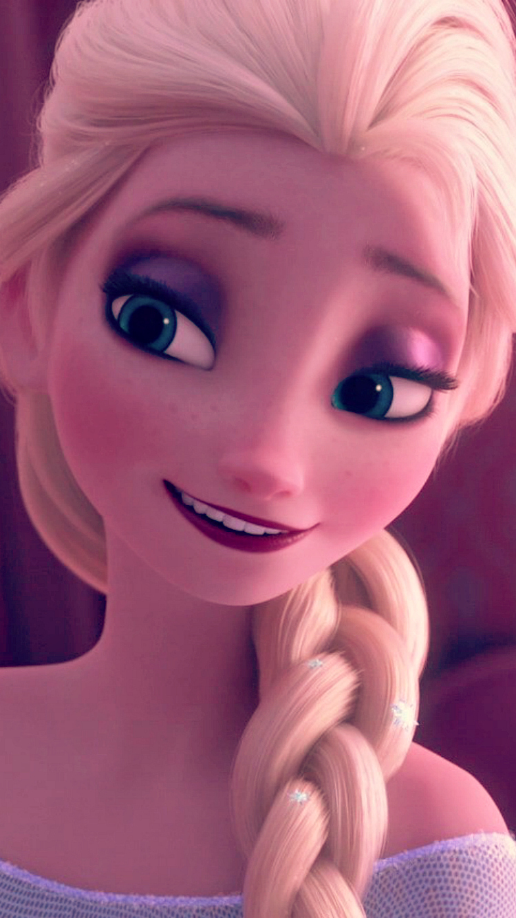 Frozen Fever Elsa Phone Wallpaper