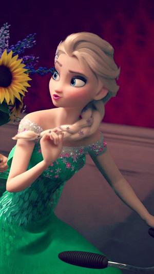 Frozen Fever Elsa Phone Hintergrund