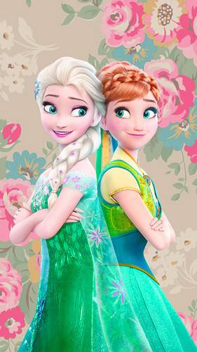 Frozen Fever Hintergrund titled Frozen Fever Phone Hintergrund