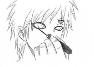 Gaara puts on Eyeliner! *o*