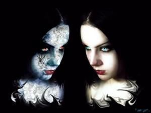Good vs evil गॉथिक Girl