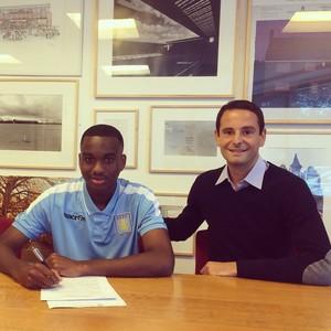 Gregoire Akcelrod and Johan Abdoul at Villa's Bodymoor Heath training
