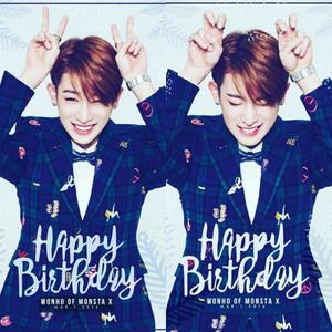 Happy Birthday Wonho♥♔ƸӜƷ