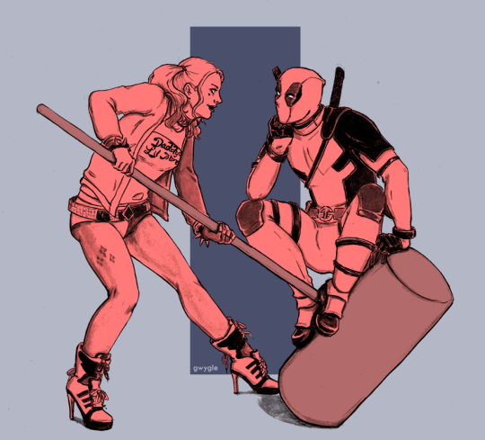 Harley Quinn & Deadpool = Harleypool