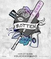Harley's Tattoo Parlor Posters - Harley Quinn