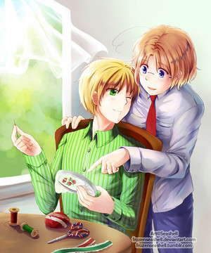 Hetalia A Fair Afternoon. MapleTea. My first MapleTea picture