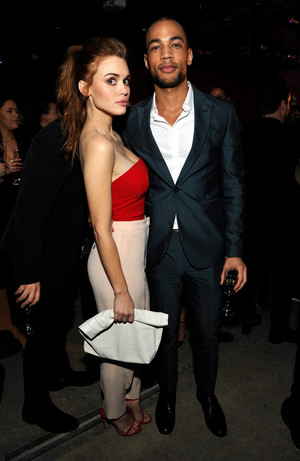 Holland Roden attends the Emporio Armani Sounds event in Los Angeles