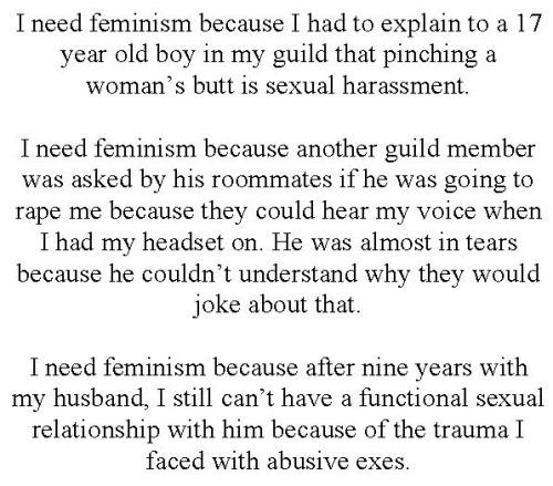 I Need Feminism