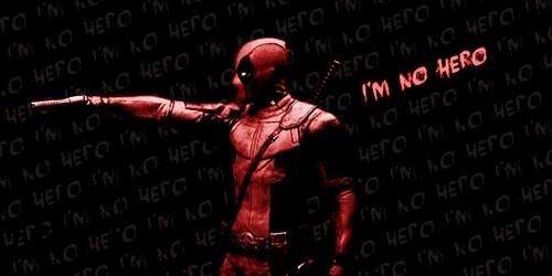 Deadpool (2016) kertas dinding titled I'm No Hero