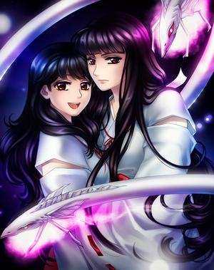 inuyasha | Kagome and Kikyo