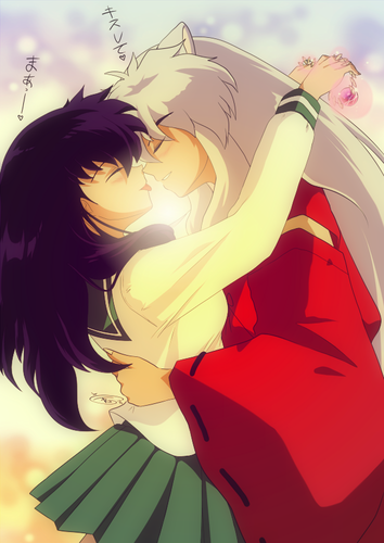 Inuyasha wallpaper titled Inuyasha and Kagome  犬夜叉とかごめ【犬かご】
