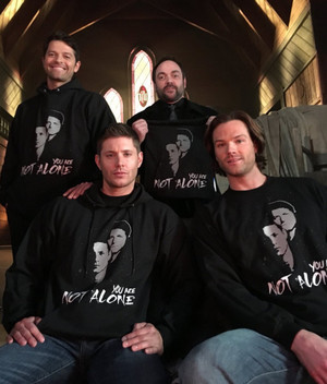 Jensen, Jared, Mark and Misha