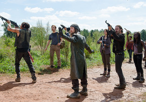 Jesus, Michonne, Daryl, Rick and Maggie