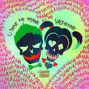 Joker and Harley Quinn Valentine's 日 Poster