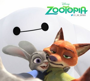 Judy, Nick and Baymax