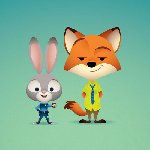 Disney's Zootopia Hintergrund entitled Judy and Nick
