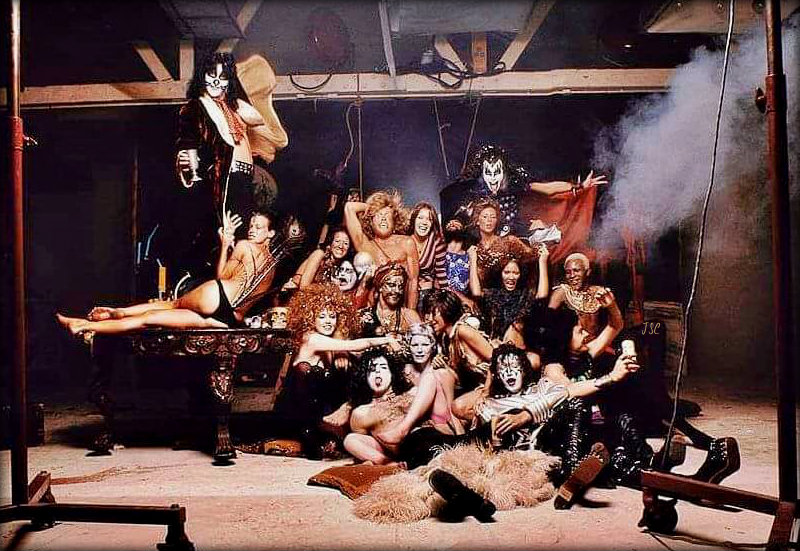 KISS ~Hollywood, California…August 18, 1974 (Hotter Than Hell Foto shoot outtake)