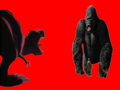King Kong and Sharptooth fighting - king-kong fan art
