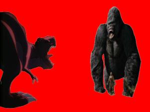 King Kong and Sharptooth fighting
