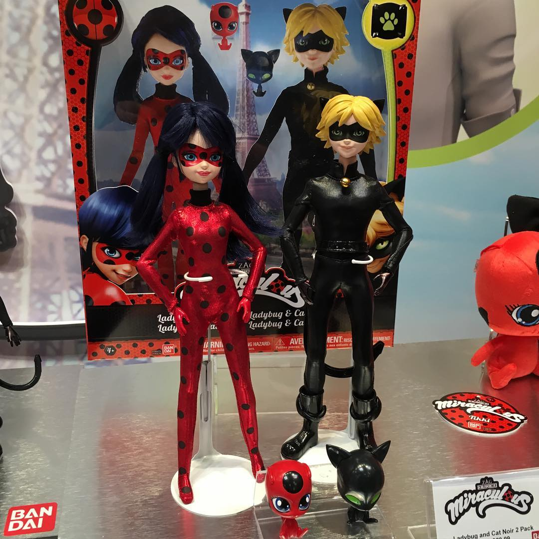 Miraculous Ladybug - Ladybug and Chat Noir doll 2 pack set