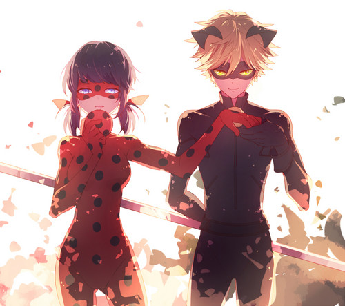 Miraculous Ladybug वॉलपेपर entitled Ladybug and Chat Noir