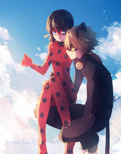 Miraculous Ladybug Hintergrund titled Ladybug and Chat Noir